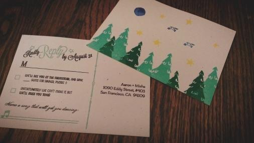 finished lovebirds postcard